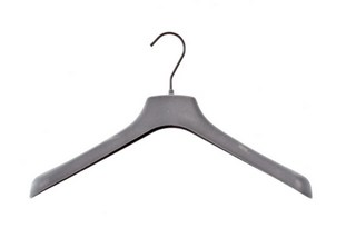 Grey Velvet Flocked Hangers