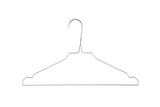 WHITE HANGERS FOR LAUNDRY MOD. 08W, BOX 500 UNITS